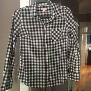 Wonderful black and white gingham button down